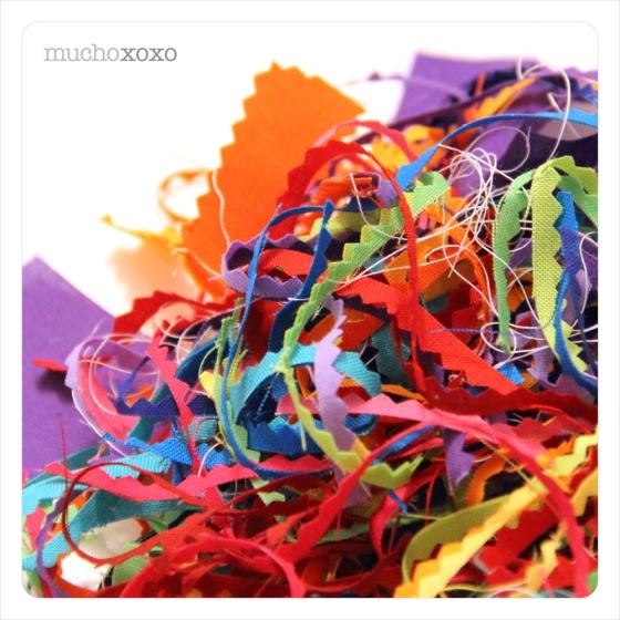Rainbow Fabric Scraps