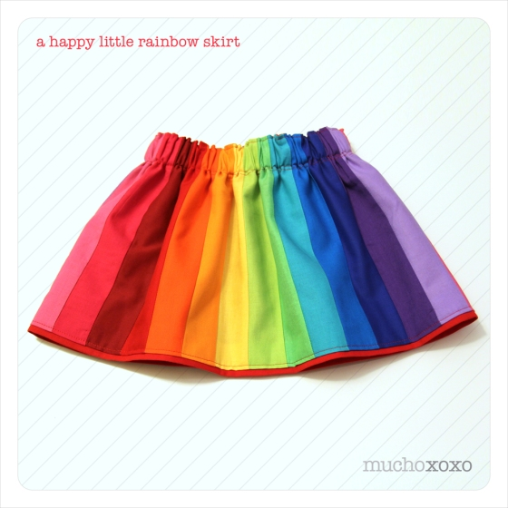 Girl's Rainbow Skirt