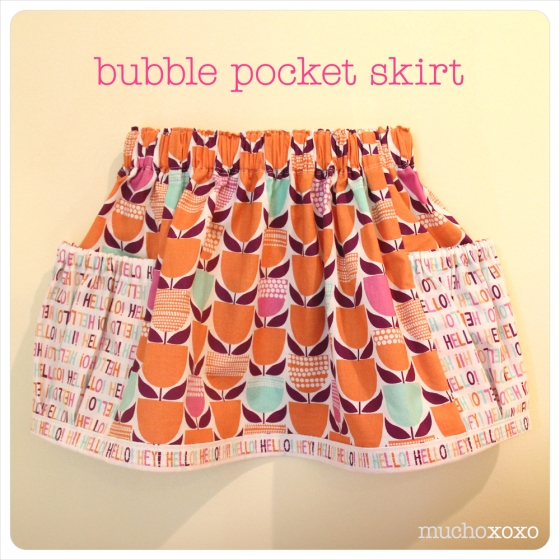 bubble pocket skirt