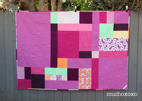radiant orchid quilt back