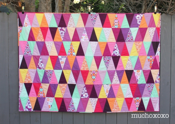 radiant orchid quilt front