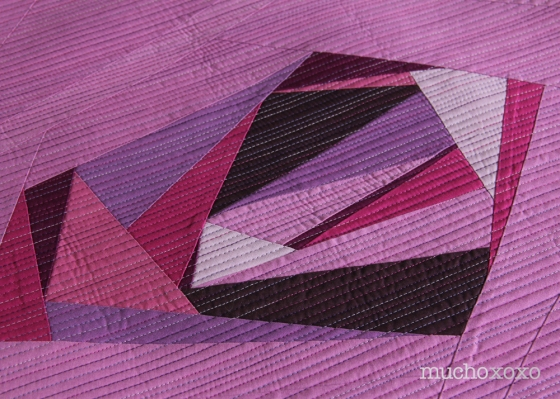radiant gem quilt detail