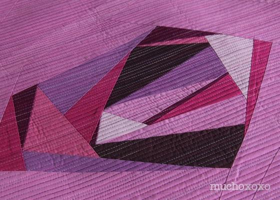 radiant gem quilt detail